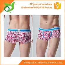China manufactory produced comfortable and reliable mens underwear trunks