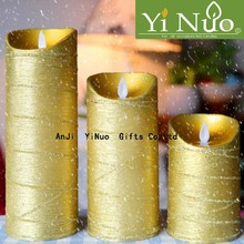 party moving flame wick led candle in gold for Christmas gifts