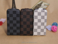 Luxury Gird Pattern Vertical Textured Leather Case Cover For Apple iPhone 5
