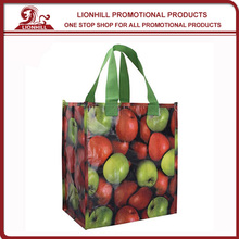 promotional custom design recycled pp woven shopping bag