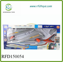 B/O universal plane,battery operated universal plane with light and music,plastic electric plane