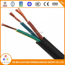 H07RNF rubber insulation flexible 3 core 4mm2 rubber cable