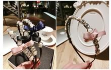 LX-349 Yiwu caddy crystal rhinestone women shiny fashion gold diamond headbands for girls