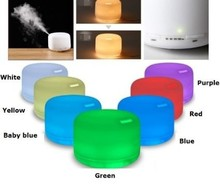 500ml ultrasonic essential oil air purifier humidifier led ionizer water humidifier