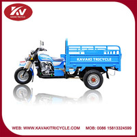 Popular fashion India high quality blue cargo motor tricycle with 200cc air-cooled engine