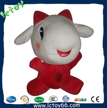 Lovely cute plush soft red sheep doll toy for baby