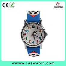 cheap custom jelly cartoon silicone watch kids football full printing silicone kids watch
