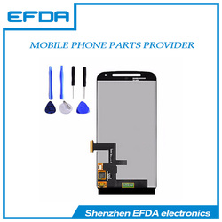 Repar spare parts lcd screen and digitizer assembly for Motorola moto G2 cell phone lcd