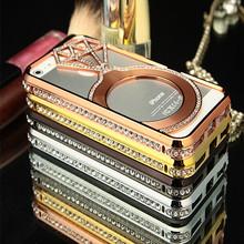 Luxury Custom Design PC Metal Hard Bling Mobile Phone Case For Iphone 5s Mobile phones