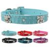 wholesale Rhinestone Skull Studded Necklace Diamond Buckle Croc Leather Dog Pet Collars