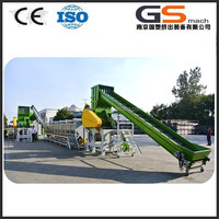 pet bottle crushing washing drying recycling line with price
