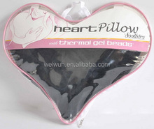 Non-toxic soft reusable Gel beads ice pack with plush backing