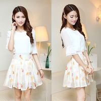 Latest Ladies Fashion Formal Two Pieces Skirt and Blouse Sets for Women SV020523