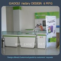 new design glass store mobile phone display showcase kiosk design
