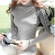 Render female turtleneck sweater set of new fund of 2015 autumn winters is long long sleeve top head of cultivate one's morality