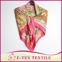 Professional manufacture Casual Polyester digital silk scarf printing