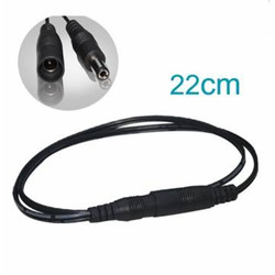 Brand New High Quality 22CM LED Connector Black Color Female+Male Power Connector For Single Color Flexible Strip Lights
