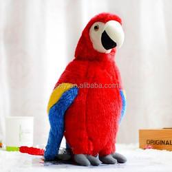 wholesale super soft plush parrot toys