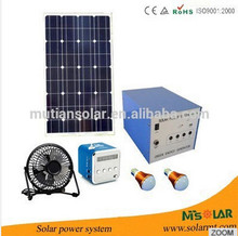 factory Mini Home 20W Solar Lighting Generating System Solar 3W LED 5V+12V Output Support LED 30 hour