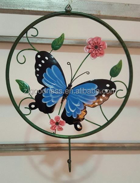 Wholesale Metal Round Butterfly Wall Decor Art Garden Unique Indoor Outdoor P
