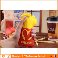 high quality McDonald's Fries silicone soft cell phone case cover for ipad air 2 3 4