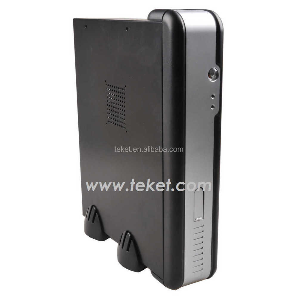 Slim Mini-ITX PC Case,Thin Client Metal Chassis,Wall Mount,Fanless-W04