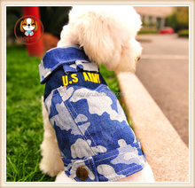 New 2015 hot Pet Products spring and summer old denim style jeans dog clothes pet dog jumpsuit clothing for dogs