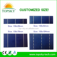 cheap price 3inch*6inch polycrystalline solar cell cut cell small cell,78*156mm,irregular size cell