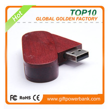 USB2.0 red Wooden usb pendrive with CE FCC and Rohs