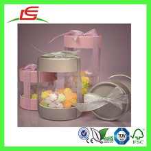 Q1156 Guangdong Wholesale Plastic Clear Side Cylindrical Storage Container