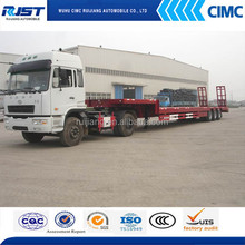 China Trailer Manufacturer Good Quality 3 Axle Low Bed Trailer