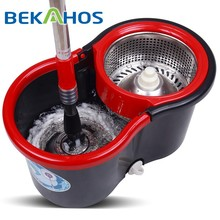 Bekahos hand press wash and dry Type Bucket Durable Hot Sell Rotating Spin Mop
