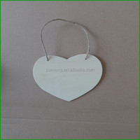 New Product Wood Crafts Hanging Christmas Decoration Ornaments Wooden Heart