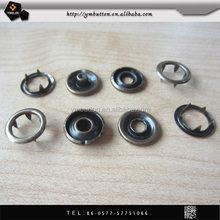 15mm metal five parts prong spring snap button