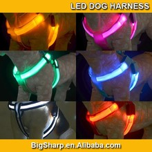 Pet Dog LED Harness Training Safety Light Glowing Harness for Dog LED dog 3 Sizes 8 Colors DH2502