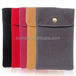 Superior quality custom cheap velvet envelope pouch