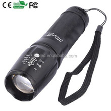 5 Modes 1Cree XM-L T6 Zoom LED Flashlight Torch light For 3 x AAA or 1x18650 Rechargeable Battery
