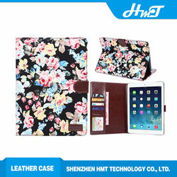 new arrival wallet leather flip case for iPad Air 2, for iPad 6 stand case fashion jeans style sleep and wake up function