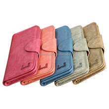 2015 Candy Color Women Brand Wallets Famous Genuine Leather Wallet Coin Purses Ladies Women Wallets Free Shipping