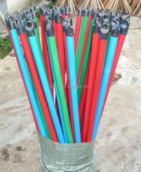 Plastic Wood Broom Handle PVC Wooden Brush Stick PP Mop Stick