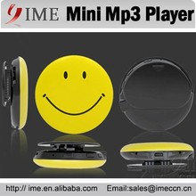 Mini Clip Mp3 Smile Face Mp3 Player Cheap Mp3 Music Player Support TF Card