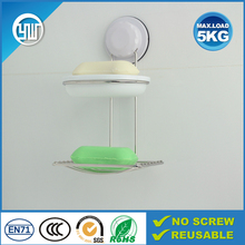 Factory direct supply dual tiers soap dispenser for bathroom