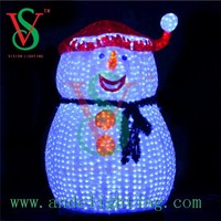 LED 3d snowman motif light outdoor christmas lights
