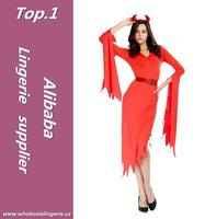 Hot selling halloween red devil costume with low price