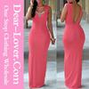 Dropship Clothing manufacturers Salmon Slit Sexy xxxl maxi dresses