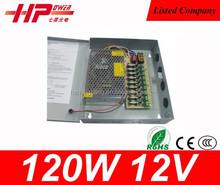 New design input single output CE RoHs constant voltage 120 watt 10 amp 12 volts ac to dc power supplies