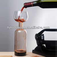 heat resistant unique shaped transparent round wine factory price decorative honey glass bottle