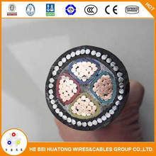 PVC insulated fine steel wire armored blank, green,red and so on pvc cable