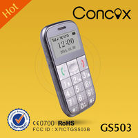 Concox GS503 multi-language gps tracker large button cell phones for seniors