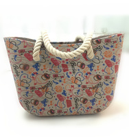 PU or rope handle EVA hand bag with printing for wholesale